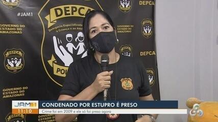 Em Manaus, condenado por estupro é preso