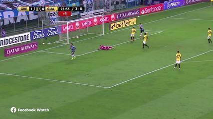 Os gols de Grêmio 2 x 0 Guaraní-PAR, pelas oitavas de final da Libertadores