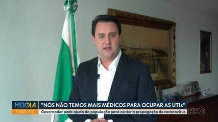 Governador pede ajuda da população para conter a propagação do coronavírus