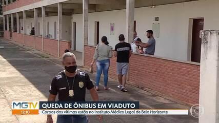 Ônibus caiu de viaduto: Corpos de vítimas do acidente em João Monlevade estão no IML de BH