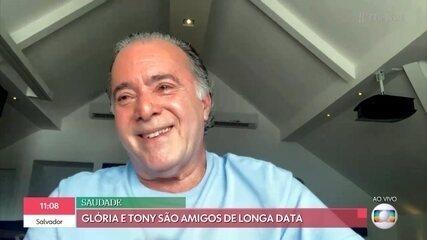 Patrícia Poeta conversa sobre o 'Novo Normal' com Tony Ramos