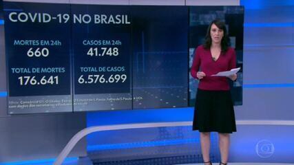Brasil registra 660 mortes por Covid em 24 horas e total passa de 176 mil