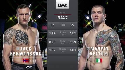 UFC Hermansson x Vettori - Jack Hermansson x Marvin Vettori