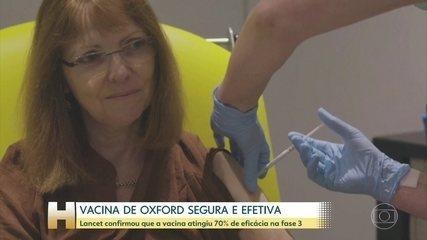 Revista diz que vacina de Oxford contra a Covid é segura e protege contra doenças