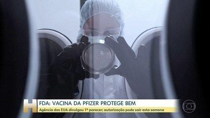 FDA americano diz que vacina da Pfizer apresenta boa proteção