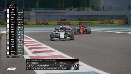 Gasly e Vettel lutam por posição