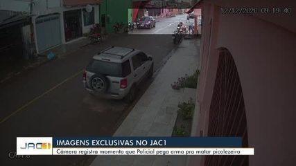Exclusivo: Vídeo mostra momento em que policial penal persegue e mata picolezeiro