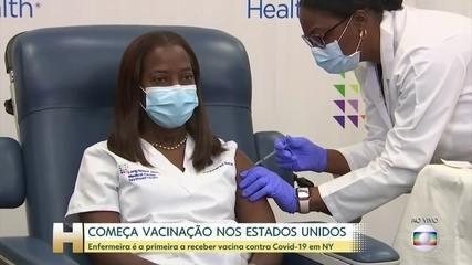 Vacinação contra a Covid começa nos EUA; enfermeira é 1ª receber em NY