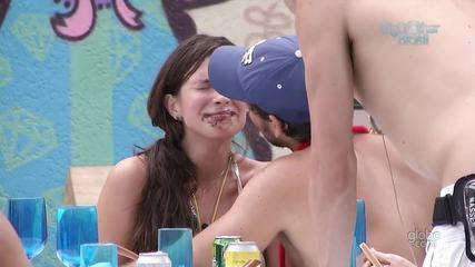 Relembre o primeiro beijo entre os ex-BBBs Kamilla e Eliéser