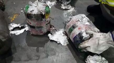 Cocaína é apreendida dentro de máquinas, no Porto de Paranaguá