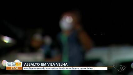 Suspeitos são presos por policial à paisana após roubarem carro em Vila Velha, ES