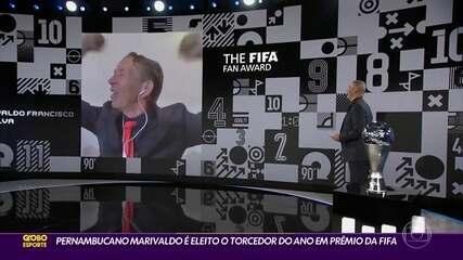 Pernambucano Marivaldo é eleito o torcedor do ano em prêmio da Fifa