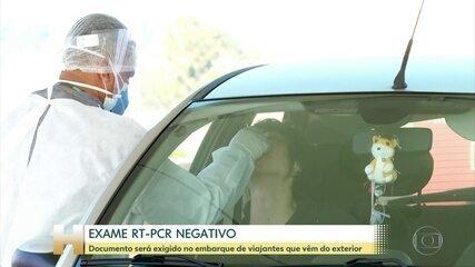 Governo vai exigir exame negativo de Covid para brasileiro ou estrangeiro entrar no país