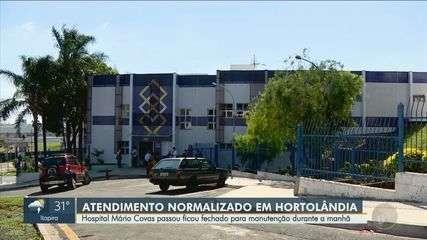 Atendimento no Hospital de Hortolândia foi normalizado nesta tarde