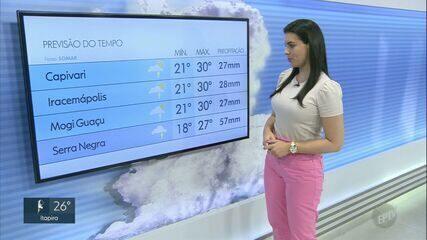 Calor e chuva devem predominar na região; veja previsão