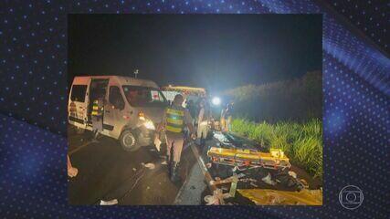 Acidente em Parapuã deixou 7 mortos e 32 feridos na noite desta segunda-feira (21)