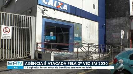 Agência bancária em Salvador é atacada pela 3ª vez em 2020