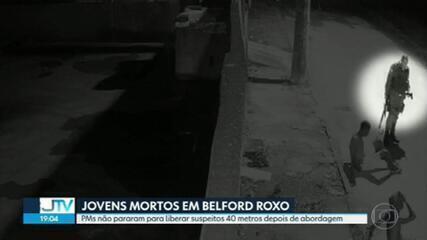 GPS de viatura mostra que PMs não liberaram jovens mortos em Belford Roxo a 40 metros da abordagem, como disseram