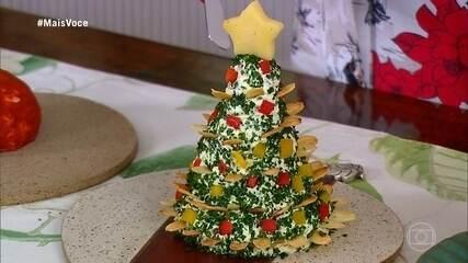 Ana Maria ensina a fazer esculturas de Natal de cream cheese