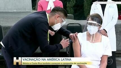 México e Costa Rica começam a vacinar população contra a Covid nesta quinta (24)