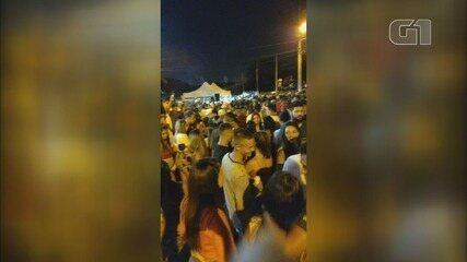 'Pagode da Covid' reúne milhares de pessoas sem máscaras no litoral de SP