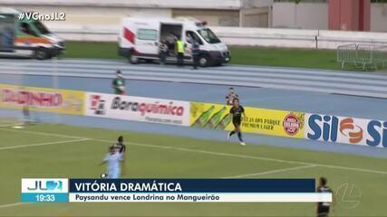 Paysandu vence o Londrina por 3 a 2 no Mangueirão