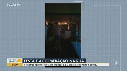 Porto Seguro tem congestionamento de jatinhos e festa com aglomeração, em plena pandemia