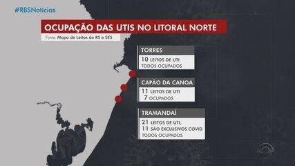 Aglomerações nas praias gaúchas preocupam autoridades da saúde