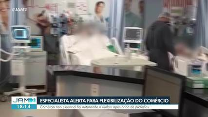 Comércio não essencial foi autorizado a reabrir após onda de protesto em Manaus