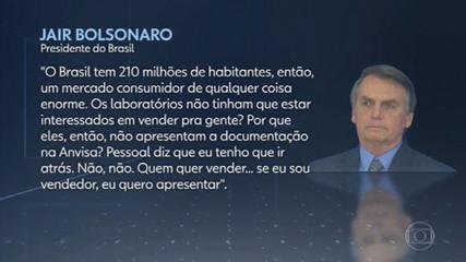Bolsonaro fala sobre suposta falta de interesse em vender vacinas ao país; Pfizer responde