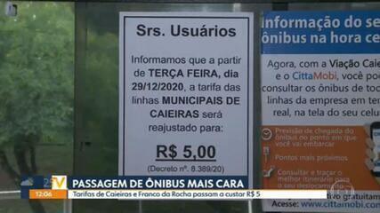 Caieiras e Franco da Rocha aumentam valor da tarifa de ônibus de R$ 4,80 para R$ 5