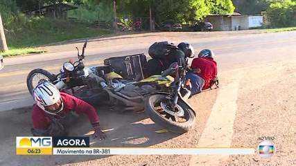 Acidente com motos é flagrado ao vivo no Bom Dia Minas; VÍDEO