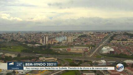 Previsão do tempo aponta chuvas na região de Campinas no início do ano
