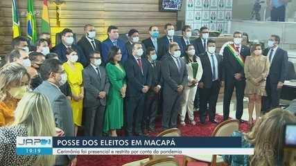 Eleitos em Macapá são empossados em cerimônia restrita, para mandato que segue até 2024