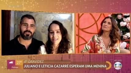Juliano e Leticia Cazarré esperam uma menina