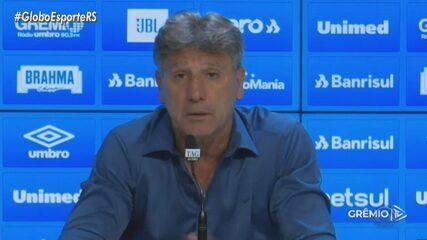 Renato Portaluppi manda recado para empresário de Pepê em entrevista coletiva