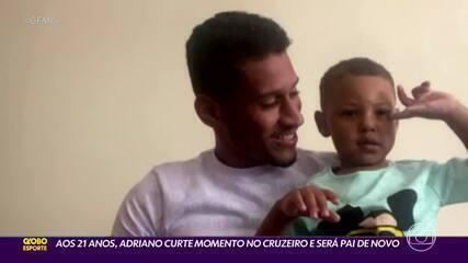 Aos 21 anos, Adriano curte momento no Cruzeiro e será pai de novo