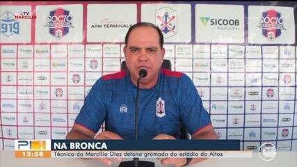 Técnico do Marcílio Dias detona gramado do Altos e fala do calor