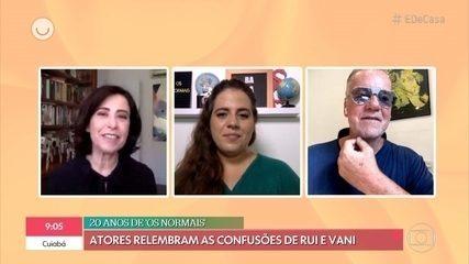 Fernanda Torres e Luiz Fernando Guimarães relembram 'Os Normais'