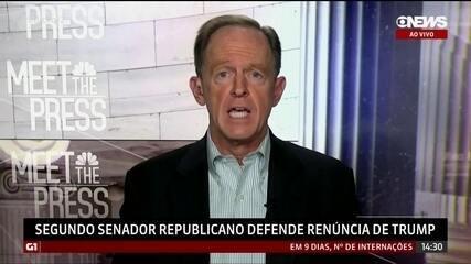 Segundo senador republicano defende renúncia de Trump