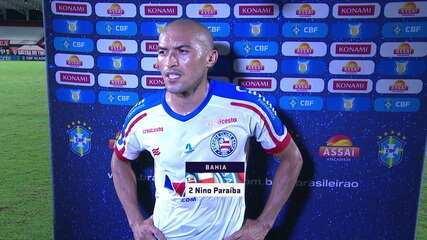"""""""Pelo menos um ponto a gente tinha que fazer"""" - Nino Paraíba após o empate contra o Atlético-GO"""