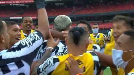 Gols do Fantástico: Santos vence São Paulo e impõe 2ª derrota seguida ao líder