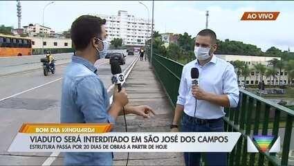 Viaduto é interditado em São José dos Campos