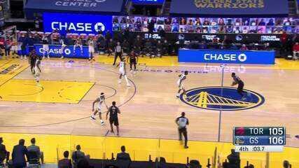 Final de jogo emocionante entre Warriors e Raptors
