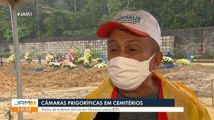 Câmaras frigoríficas devem ser instaladas novamente em cemitérios de Manaus