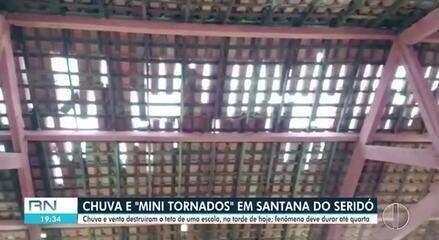 Vídeo mostra 'mini tornado' em município do interior do RN