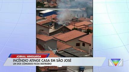 Incêndio atinge casa em São José dos Campos