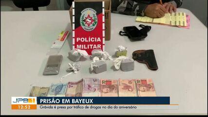 Grávida é presa em Bayeux, PB, suspeita de tráfico de drogas