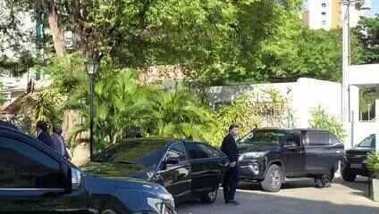 Baleia Rossi e Rodrigo Maia se reúnem em Fortaleza com governador Camilo Santana
