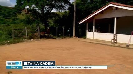 Suspeito de matar ex-mulher com golpes de facão na frente dos filhos foi preso em Colatina